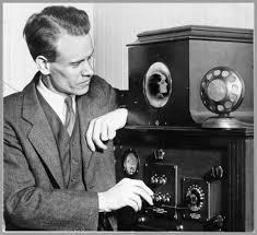 Man using dials