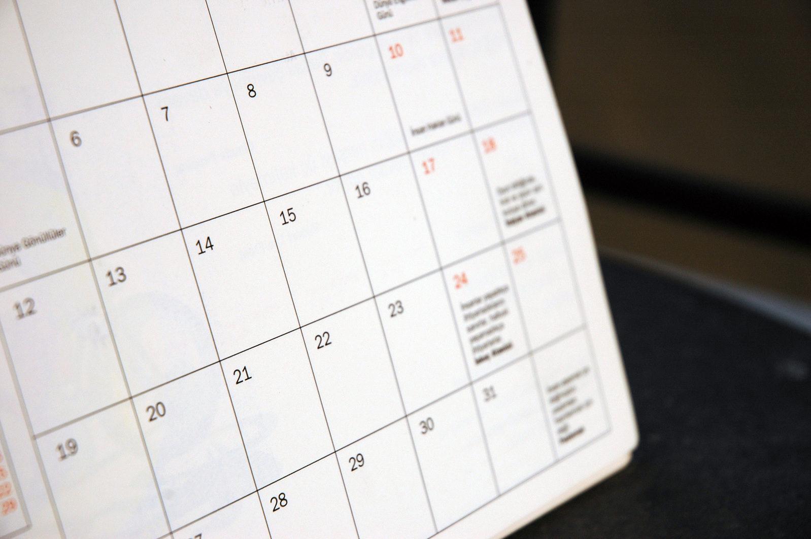 Calendar Committee Asks for Feedback