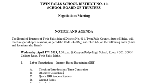 TFSD – Twin Falls School District