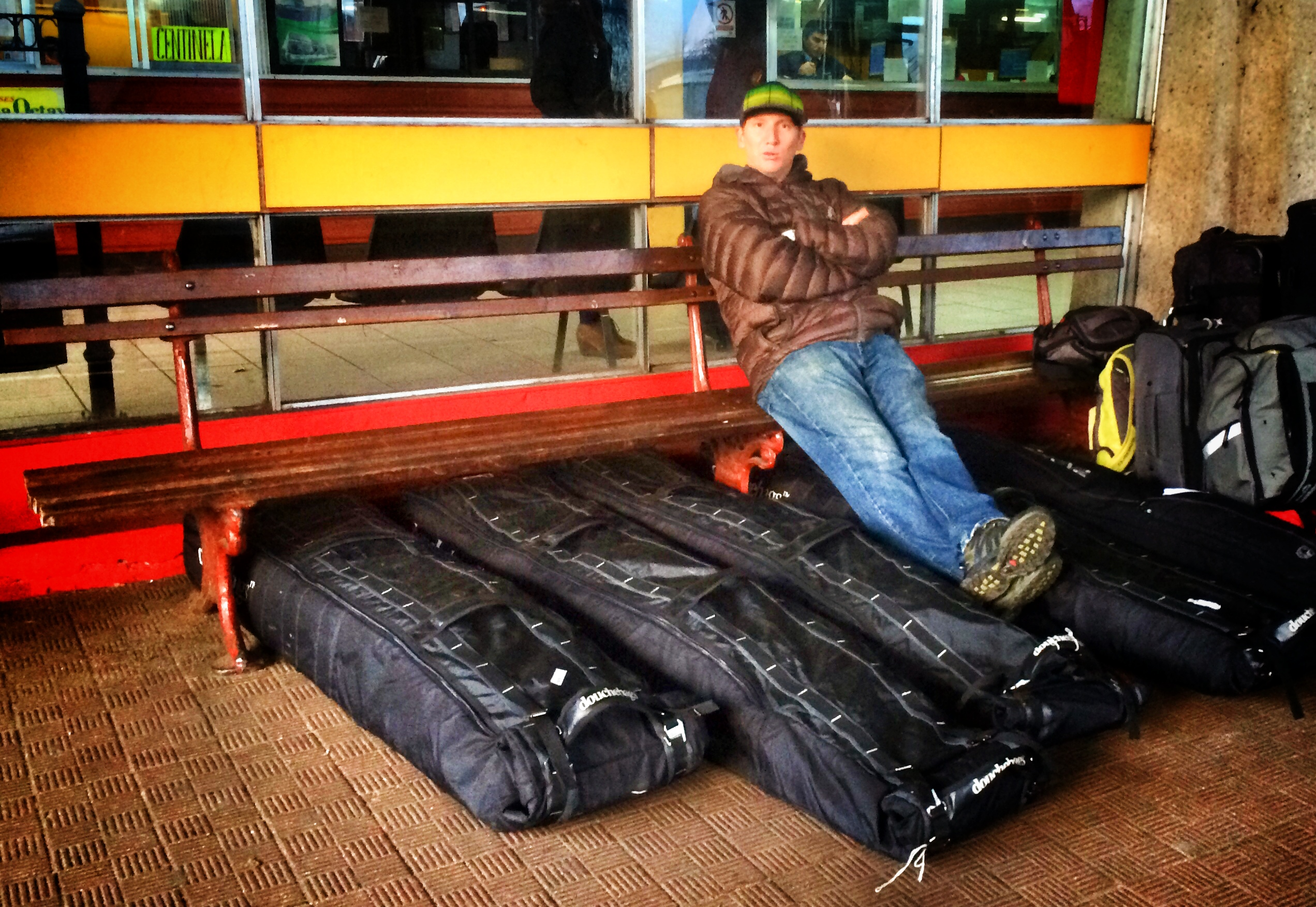 SASS Argentian Program Director Lucas Moore with his luggage. (Photo: Pete Connolly)