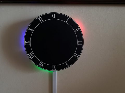 LED Reflection Clock powered by Particle Photon/Core
