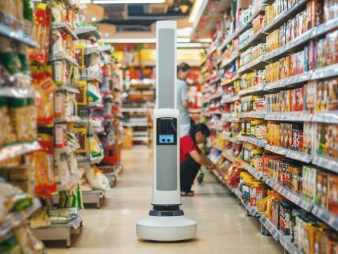 Where's the sugar? Supermarket Robot Tells Where It Is.