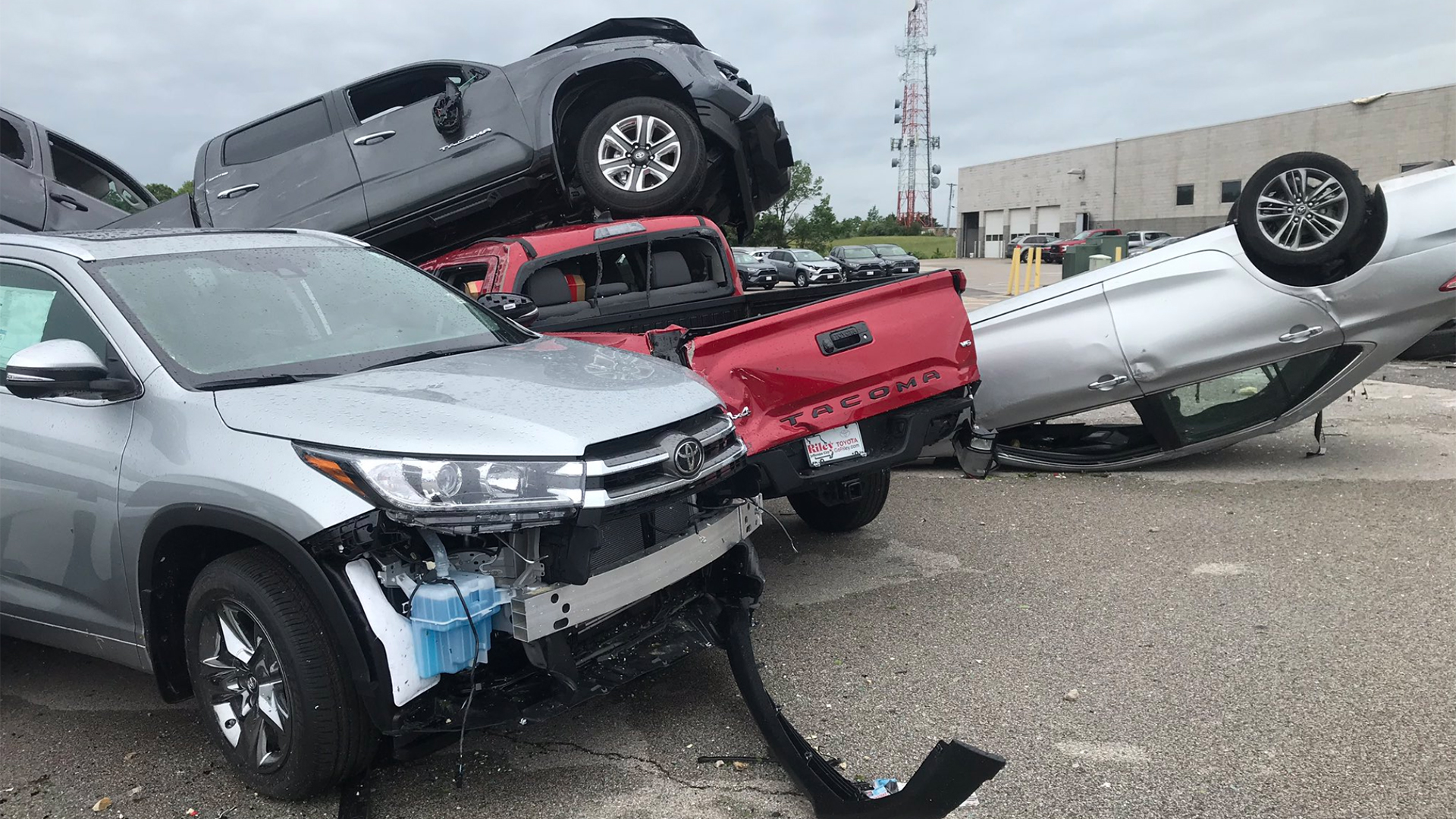 Missouri Tornado Destroys 500 Cars In Direct Hit At Chevrolet And