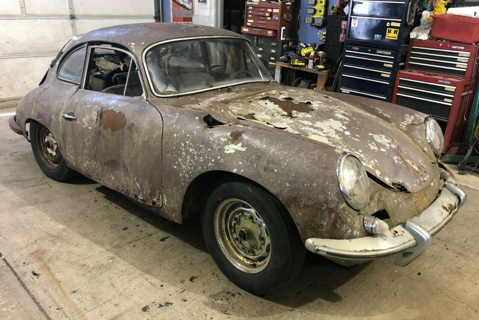Rustbucket 1962 Porsche 356 Might Be the Nastiest Numbers