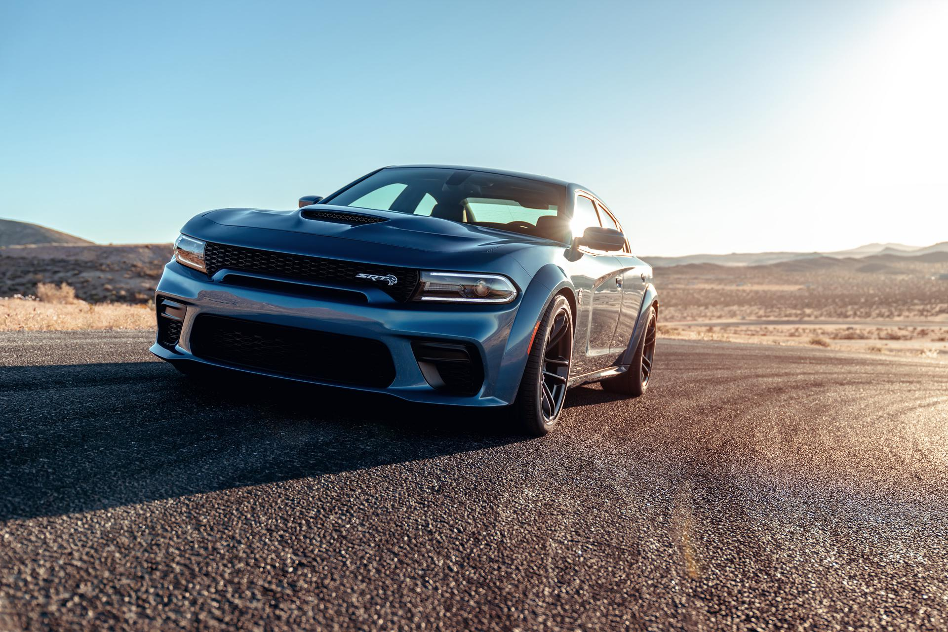 The Dodge Charger Hellcat Widebody is a full-figured sports sedan