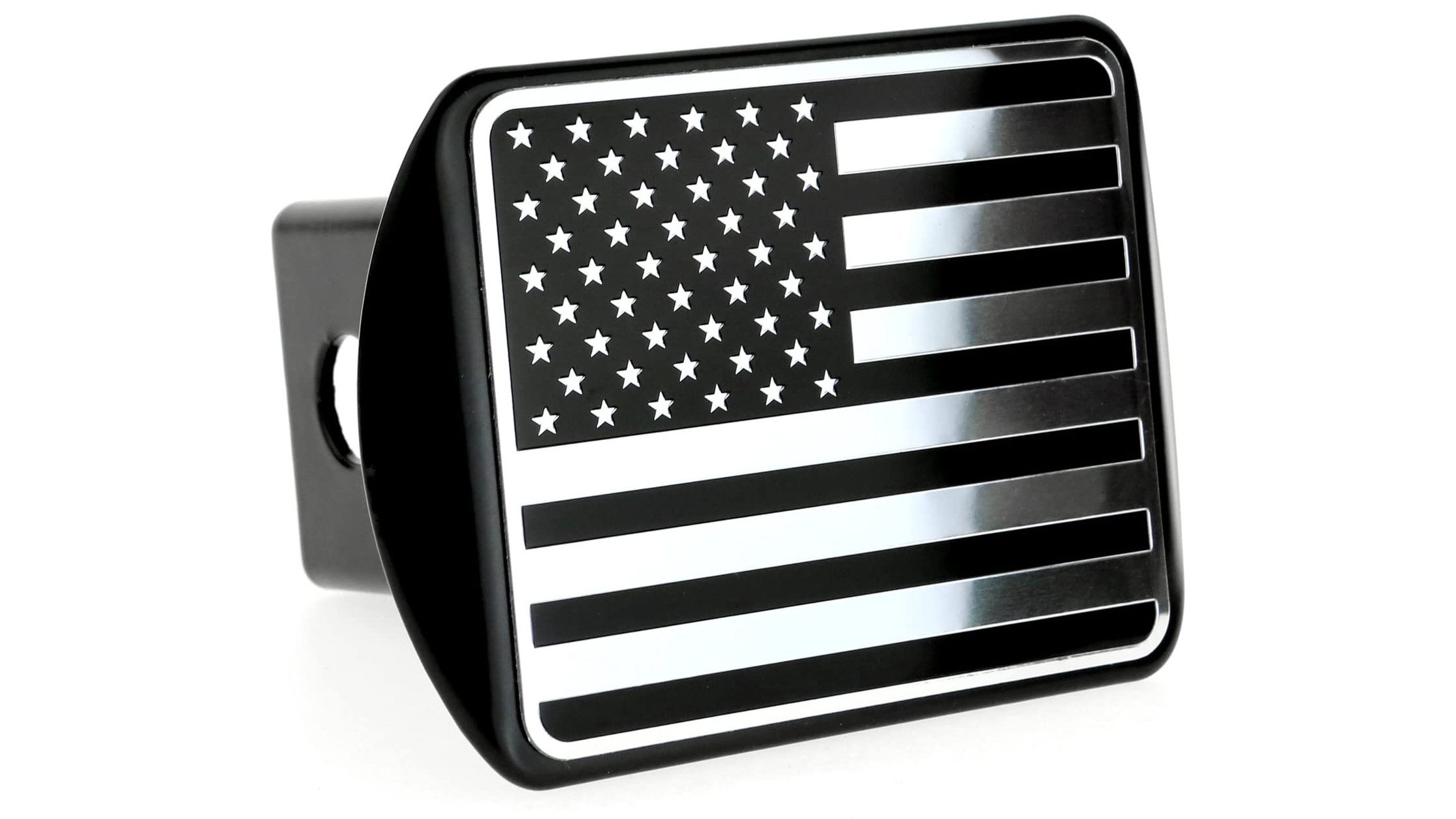 Chrome Star Metal Trailer Hitch Cover Fits 2 Receivers