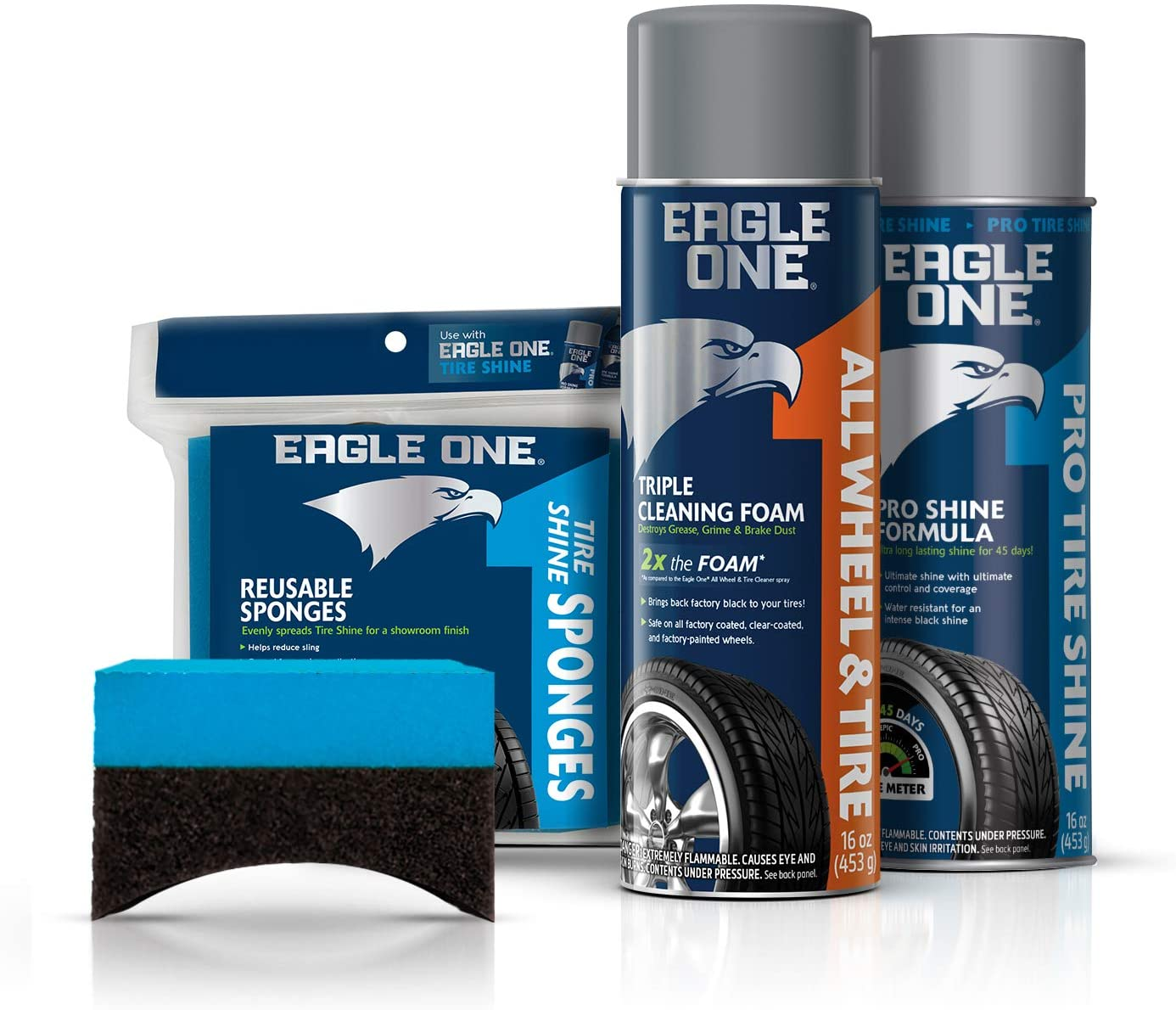 Eagle One 4-Piece Car Care Kit for Wheels & Tires