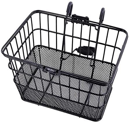 Ohuhu Rust-Proof, Quick-Release Front Handlebar Wire Mesh Bike Basket