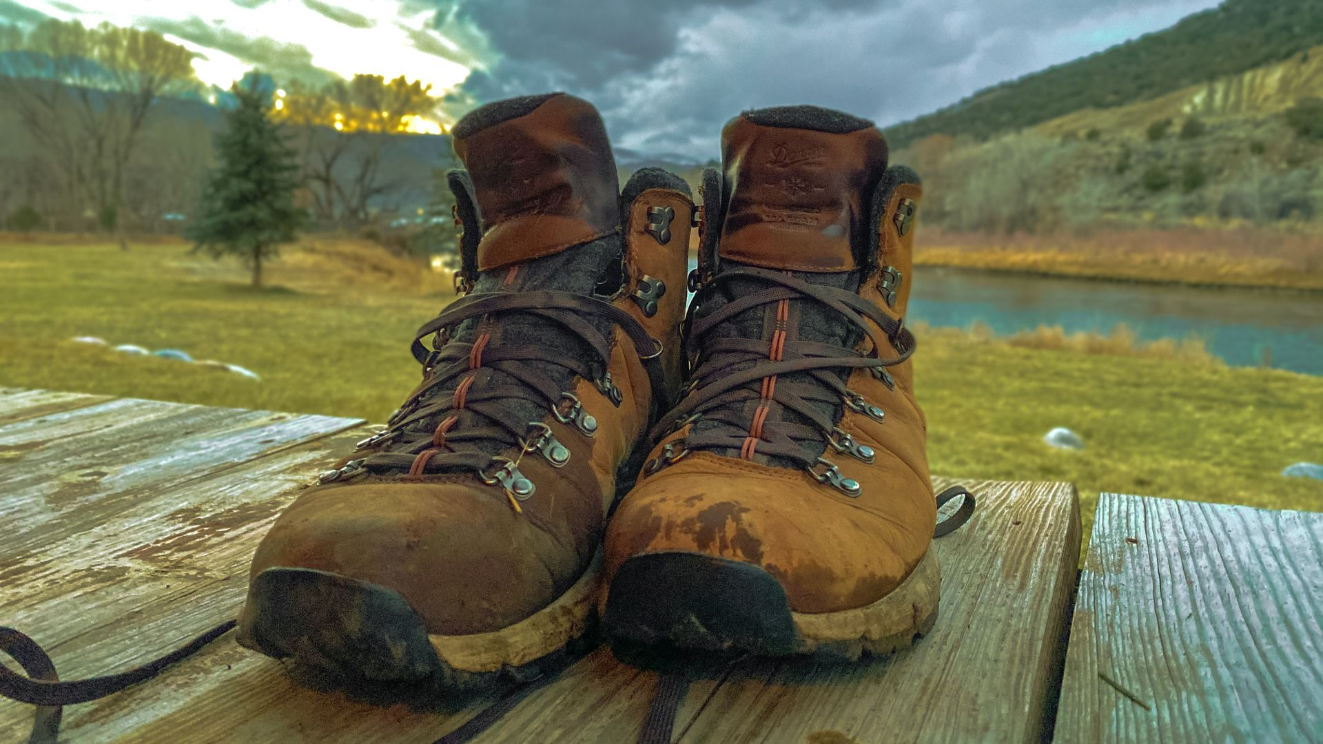 Danner Mountain 600 Insulated after a long day on the river.