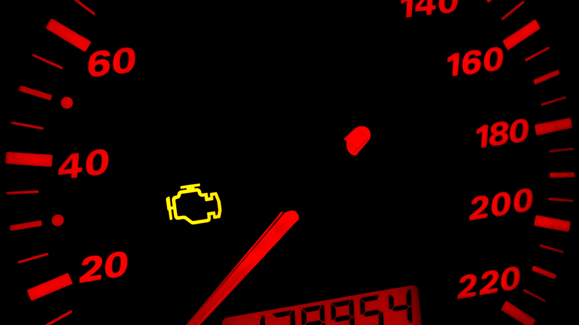 You may see a check engine light if the MAP sensor's going bad.