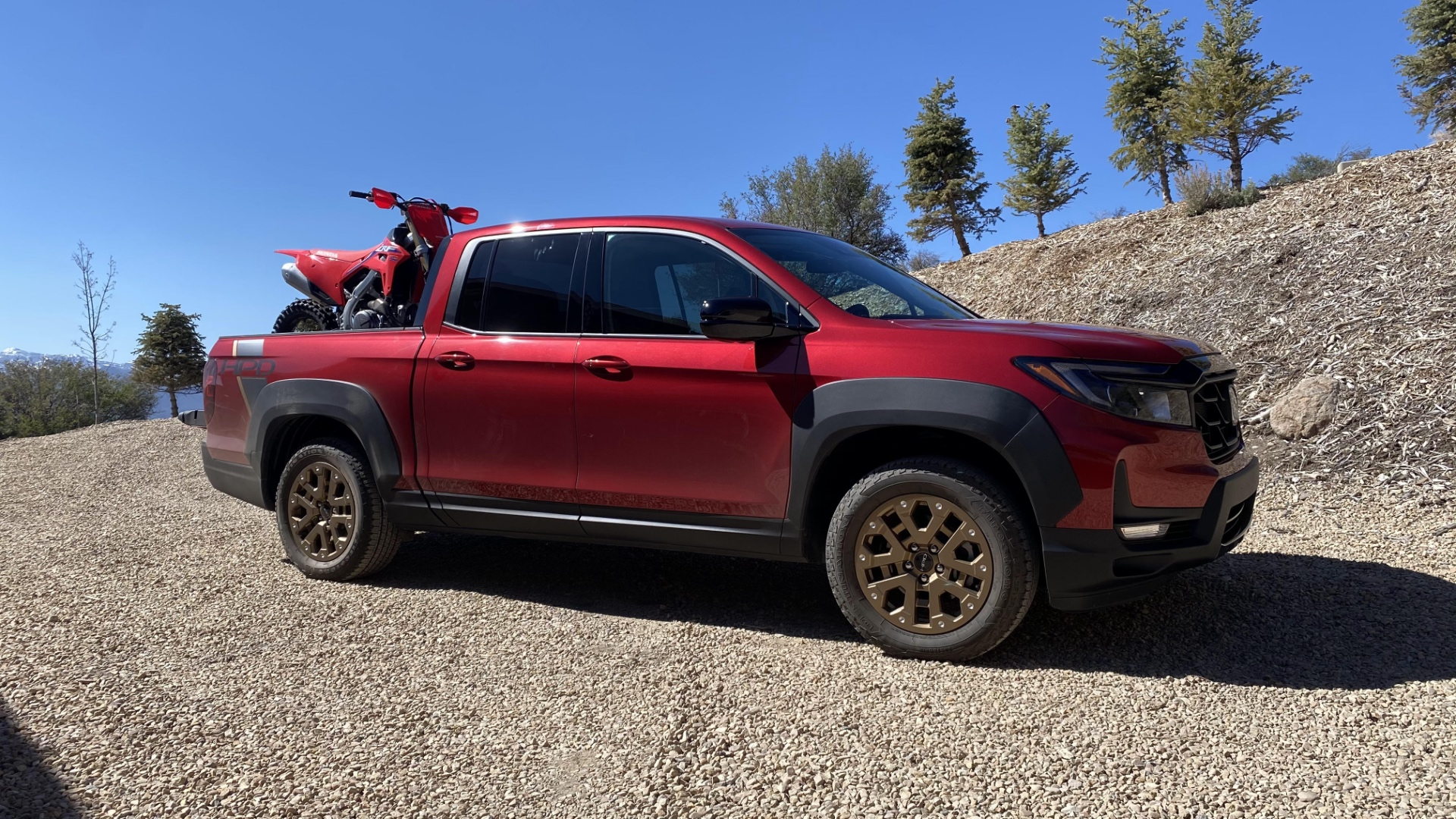 The Ridgeline with CRF450RX.