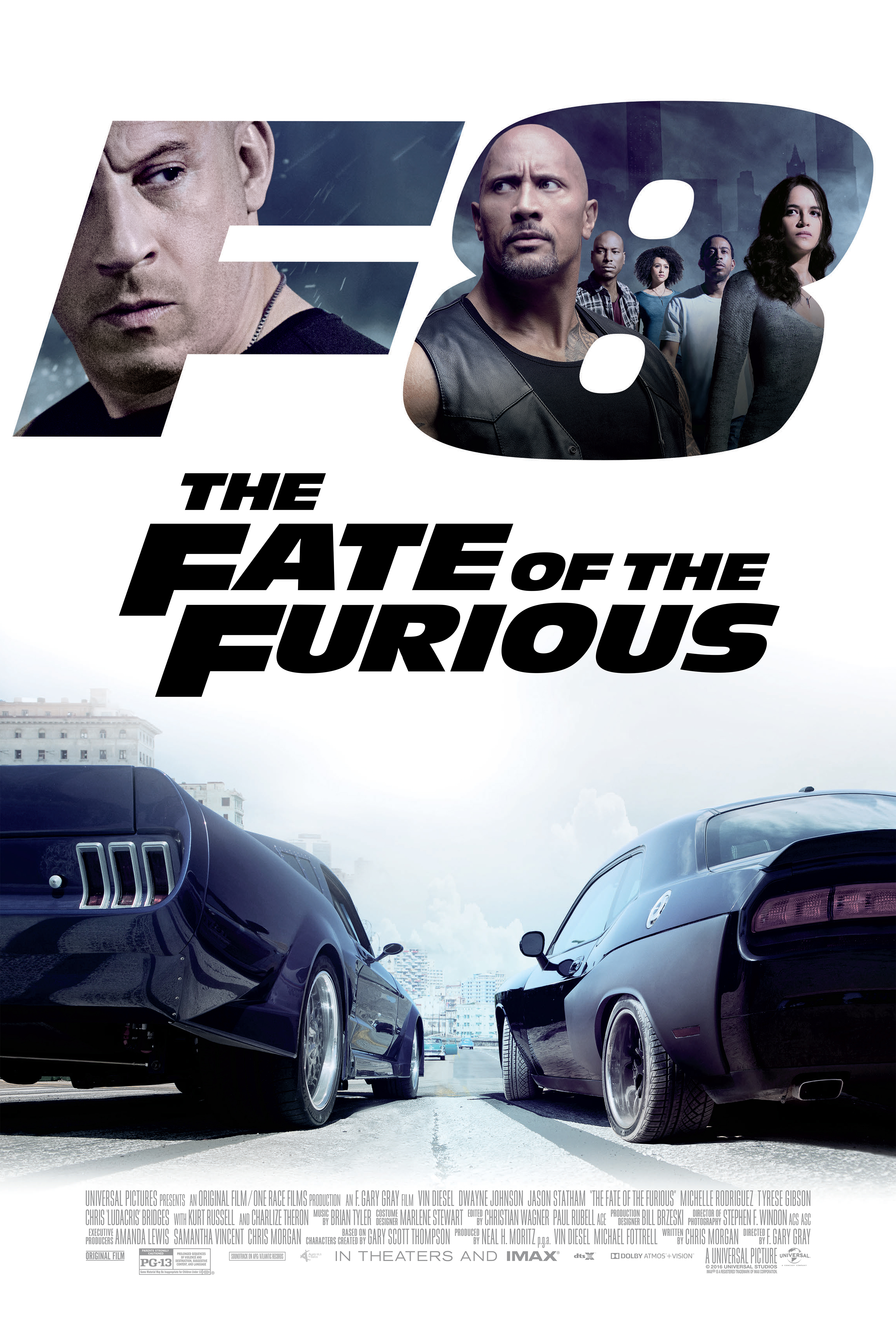 The poster for The Fate of the Furious.