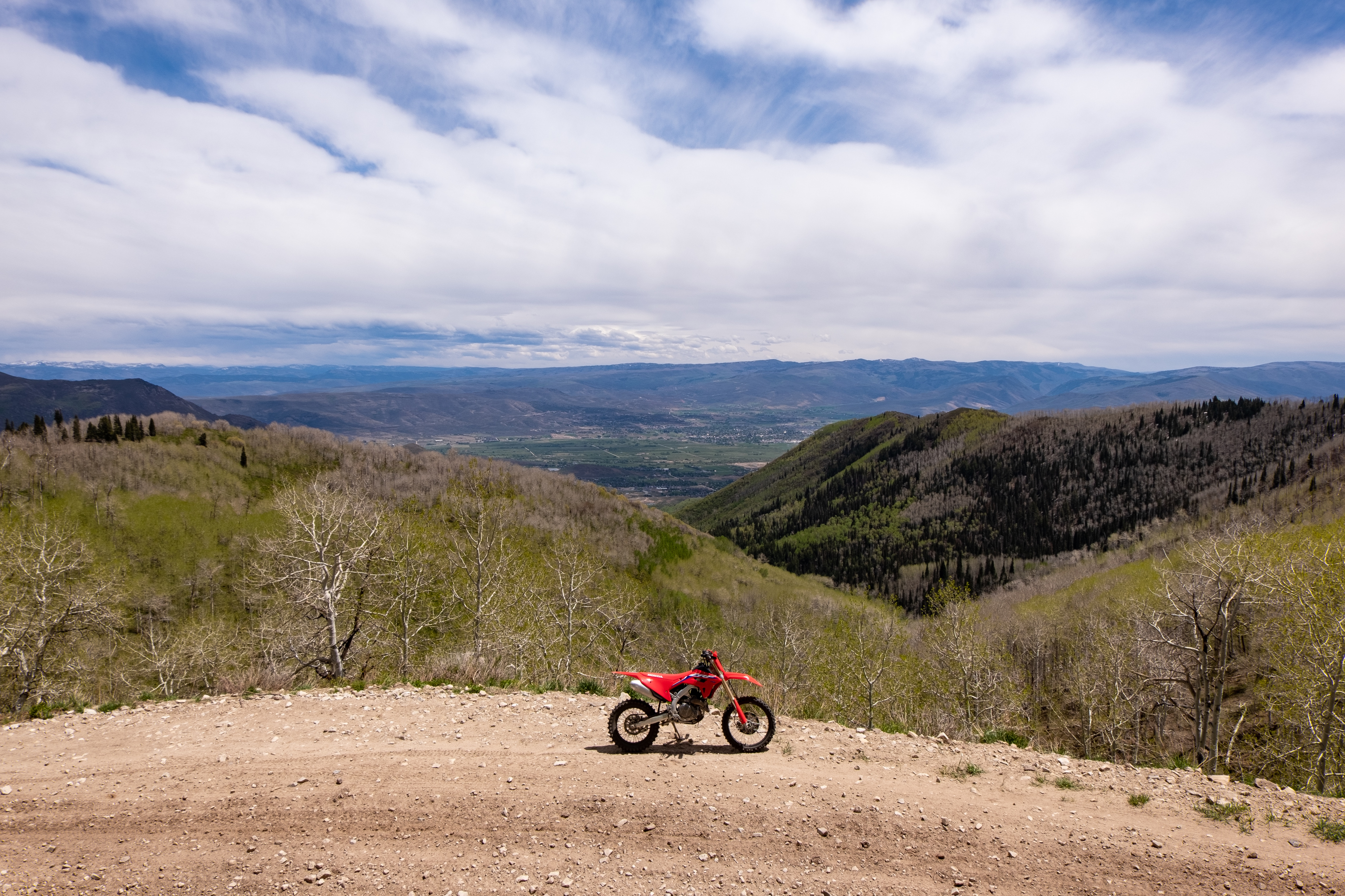 At the top of the mountain with the CRF450RX.
