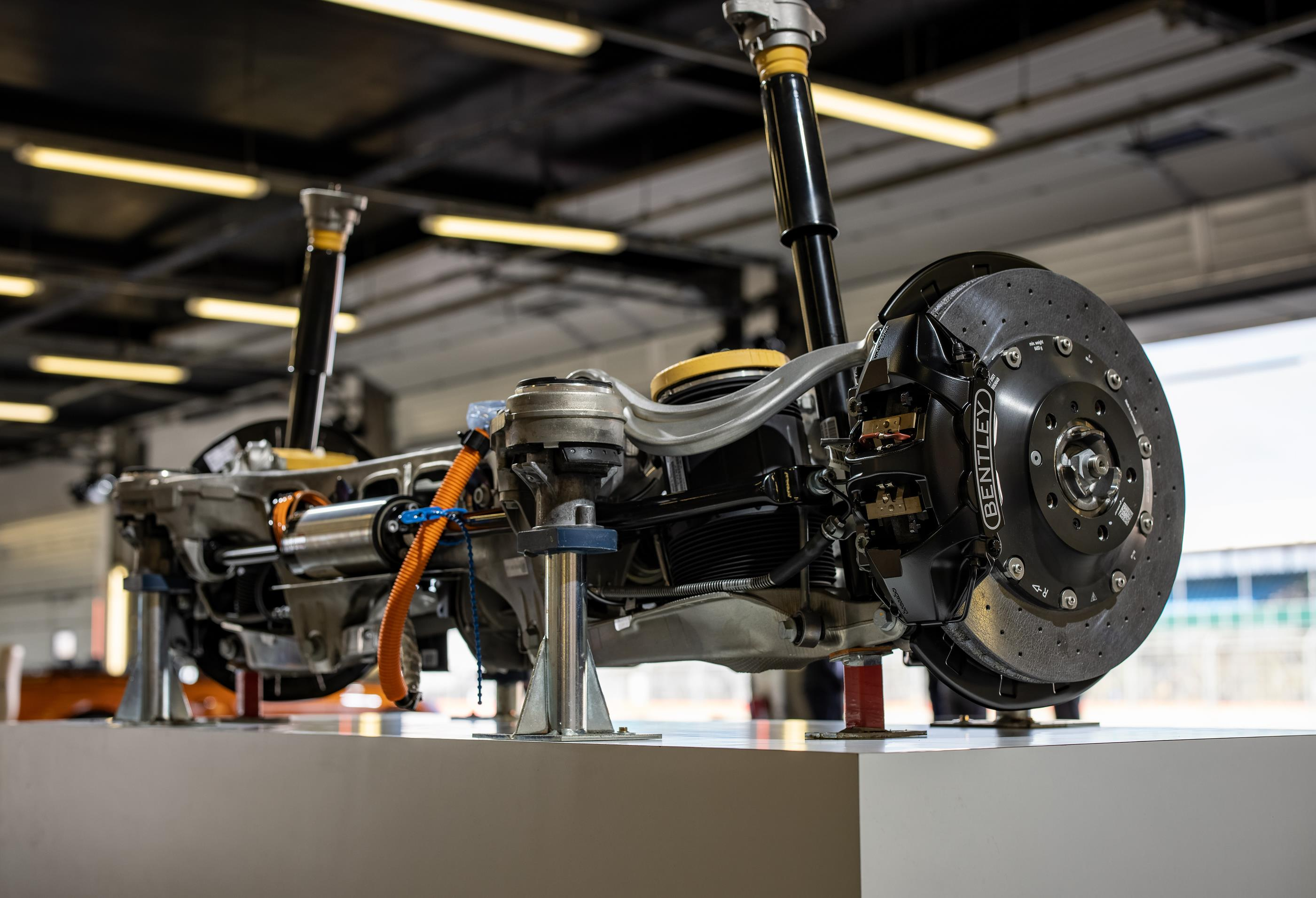 The Bentley Continental GT's rear axle