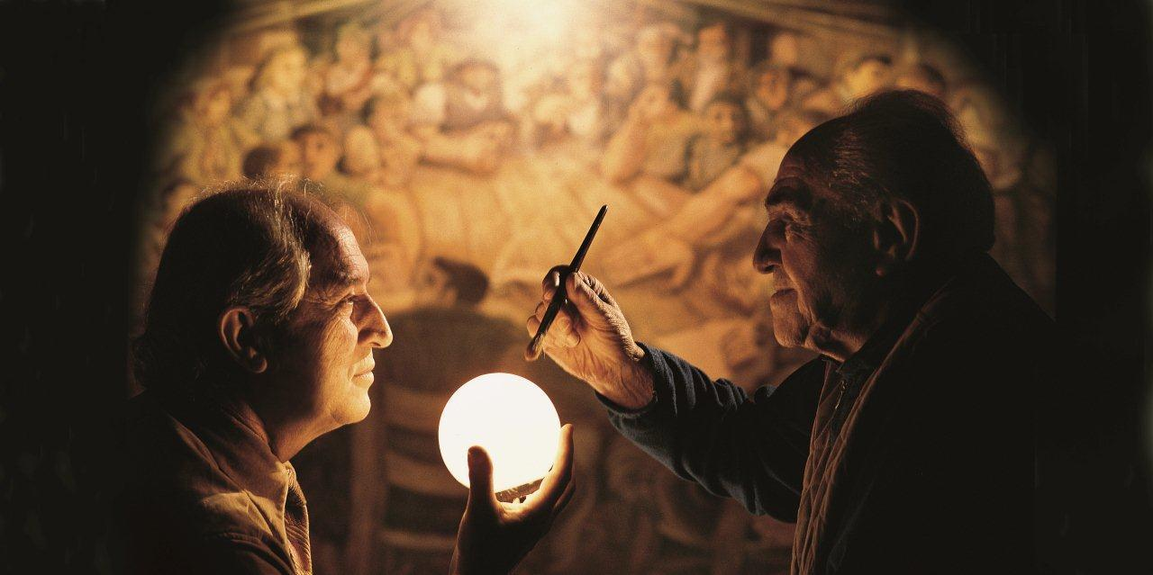 The cinematographer and painter Gino Covili in an image from his book Storaro-Covili – The Sign of a Destiny.