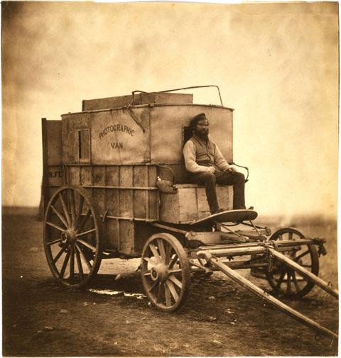 Roger Fenton's Photographic wagon and darkroom.