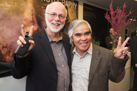 David Hume Kennerly and Nick Ut at the opening.