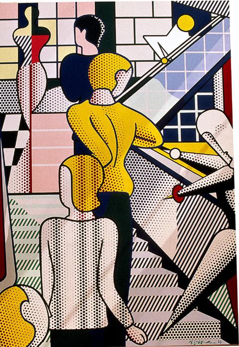 """Roy Lichtenstein """"Bauhaus Stairway"""""""