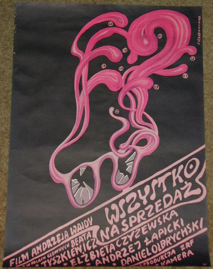"""Poster for Wajda """"Everything for Sale."""""""
