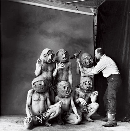 """Irving Penn, """"Worlds in a Small Room"""" in New Guinea."""
