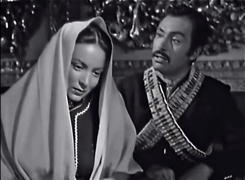 "Maria Feliz and Pedro Armendariz in ""Enamorada."""