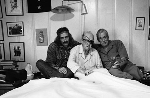Dennis Hopper, John Ford, John Huston. Photo by Viktor Skrebinski.