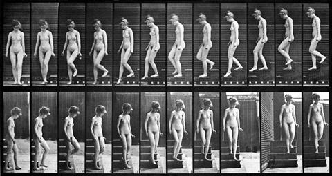 "Eadward Muybridge ""Woman Descending Steps"""