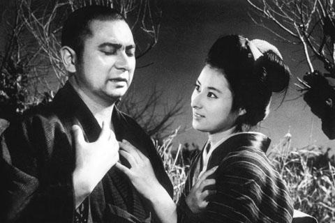 """Shintaro Katsu and Masayo Banri in """"The Tale of Zatoichi."""""""