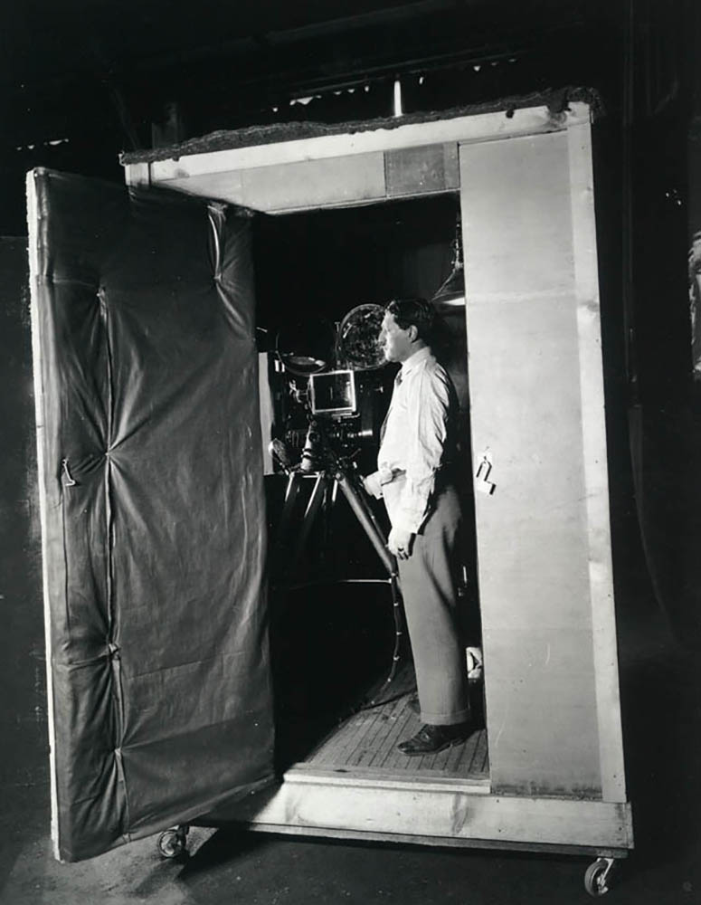 A typical camera setup in the 1930s.