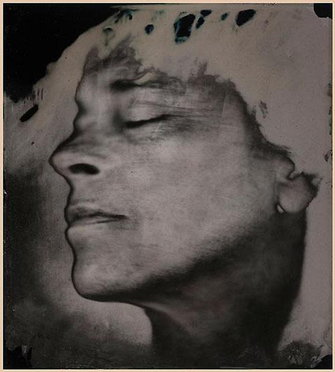 Amrotype self-portrait by Sally Mann.