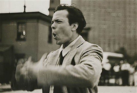 Orson Welles directing Too Much Johnson.