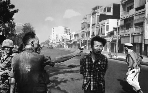 Execution of a VietCong suspect, photo by Eddie Adams.