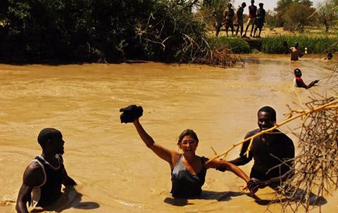 Addario crossing into Darfur.