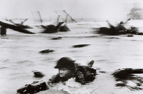June 6, 1944 D-Day, photo by Robert Capa.