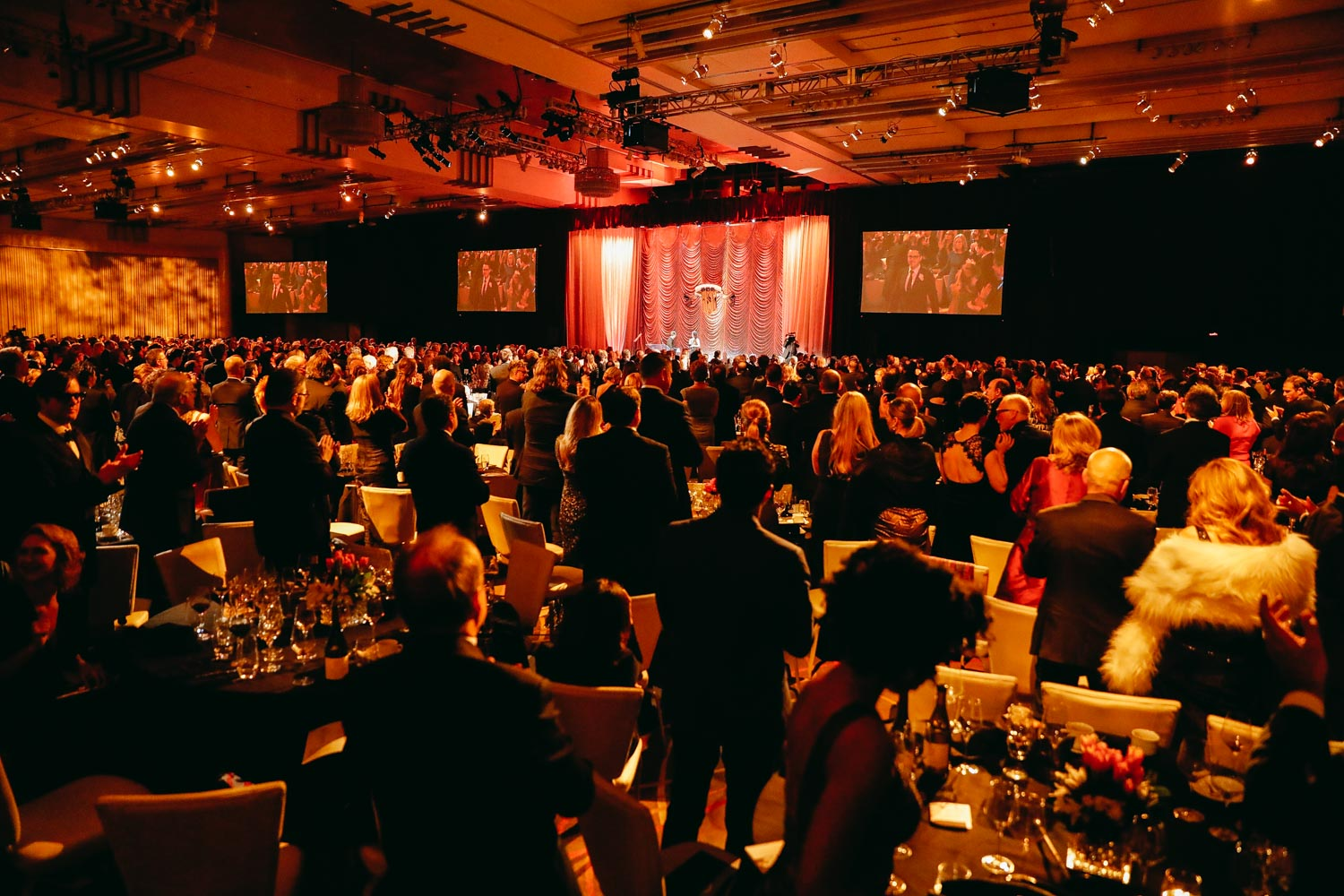 The audience arrives at the Ray Dolby Ballroom for the 31st Annual ASC Awards.