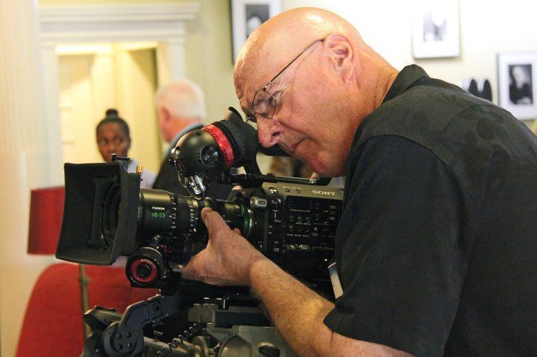 Bill Bennett, ASC examines the new MK-series 18-55mm zoom. Photo by David E. Williams