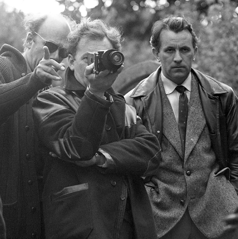 From left: Francis, director Jack Clayton and camera operator Gordon Hayman on set for THE INNOCENTS.