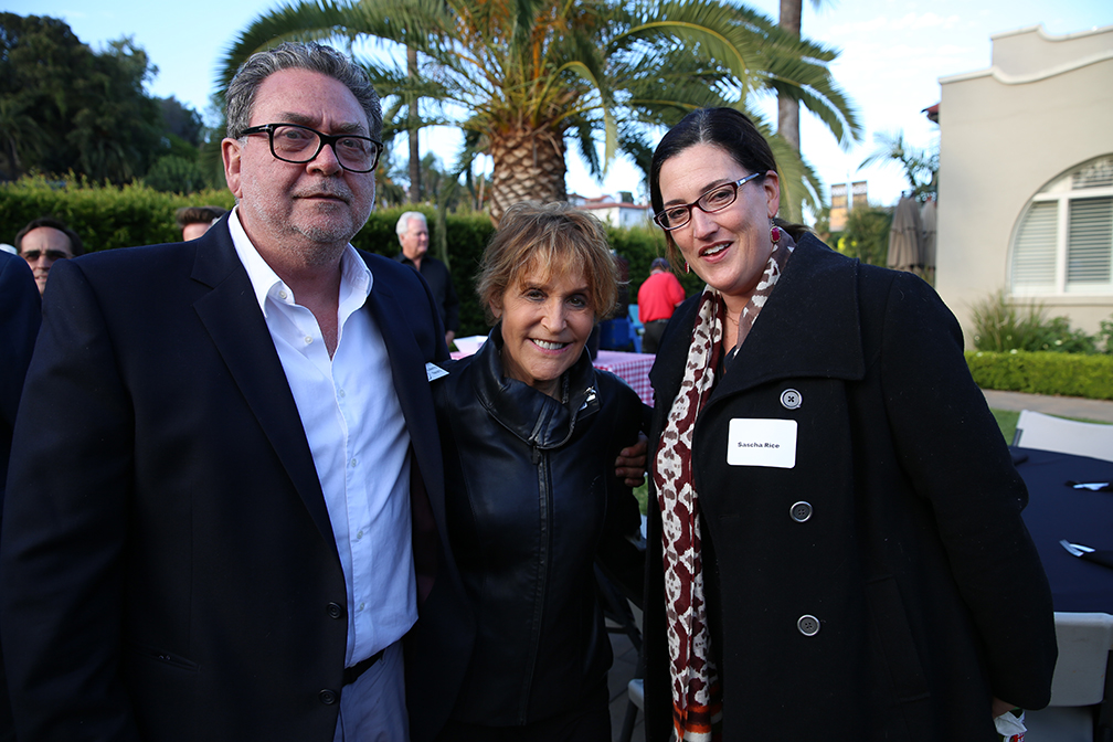 ASC members Guillermo Navarro and Nancy Schreiber with director Sascha Rice.