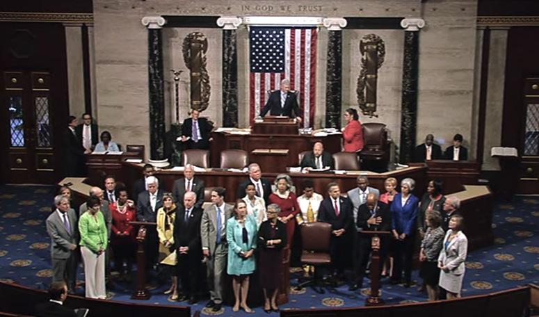 House Democrats begin sit-in, June 2016.
