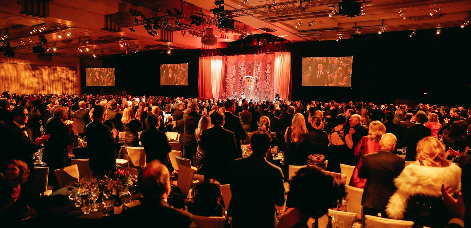A view from the back of the room at the ASC Awards, which regularly has 1,500 attendees.