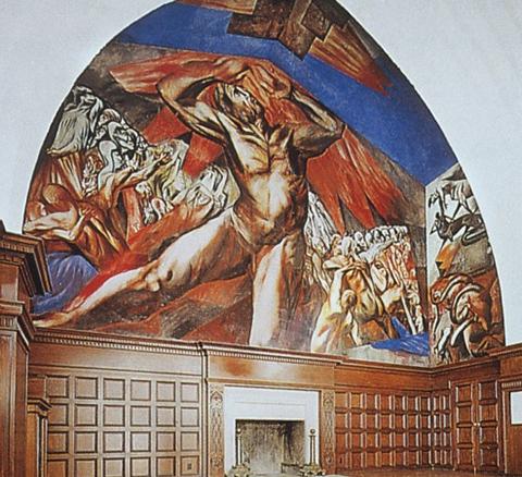 Orozco's Prometheus, Pomona College.