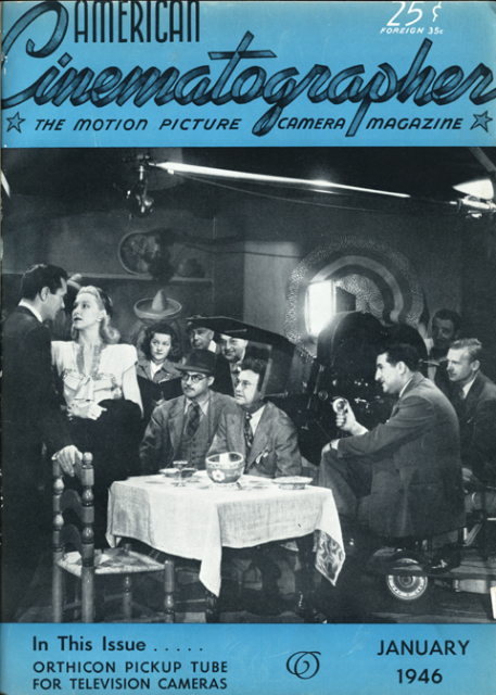 """""""Suspense,"""" 1946. Struss is at the right side of the matte box."""