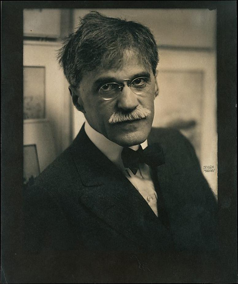 Gum bichromate over platinum photo of Stieglitz by Steichen.