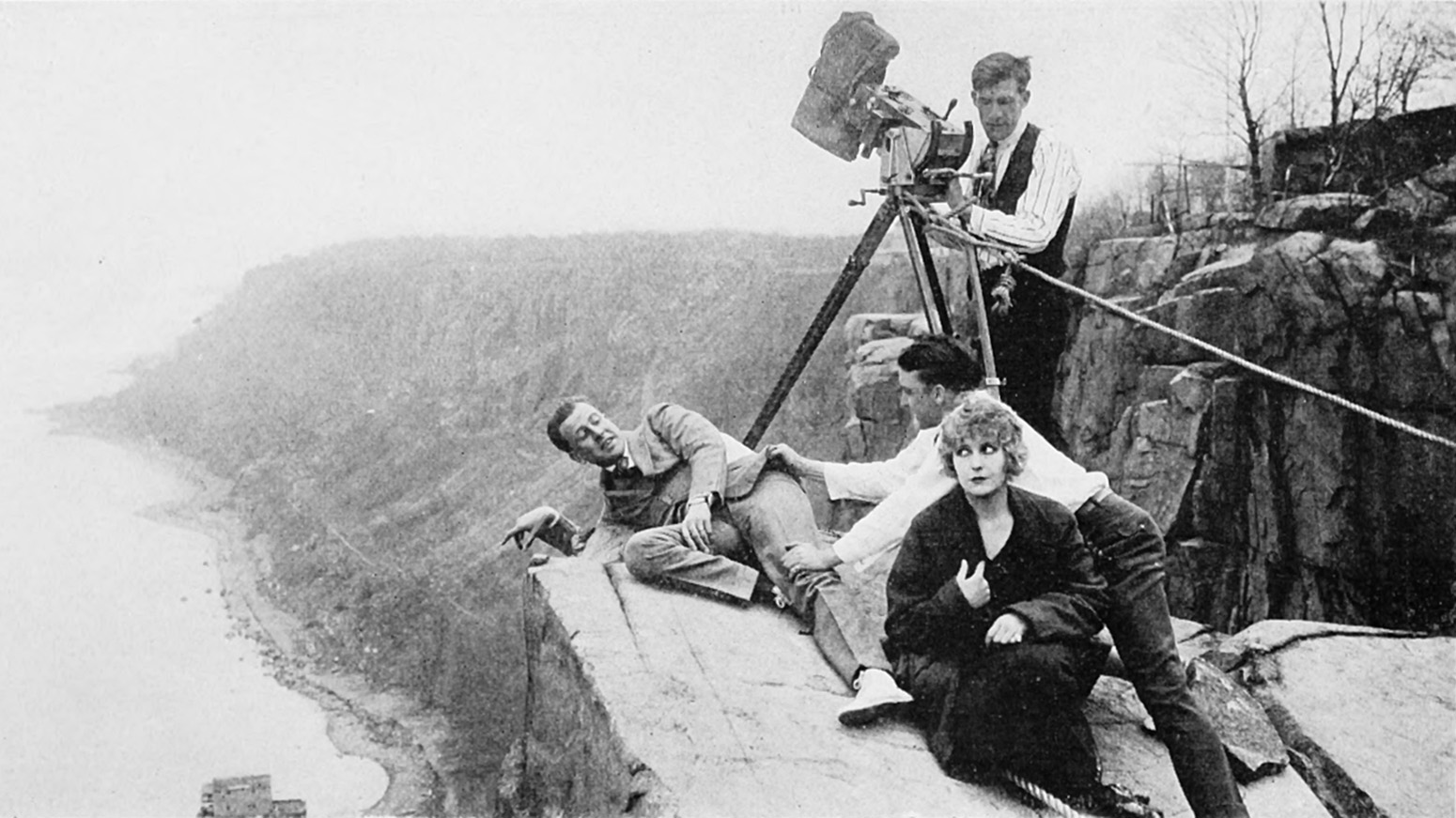 Filming The Perils of Pauline in the Jersey Palisades.