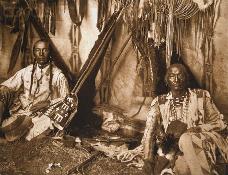 In a Piegan Lodge by Edward S. Curtis, 1910. © Stapleton Collection/Corbis