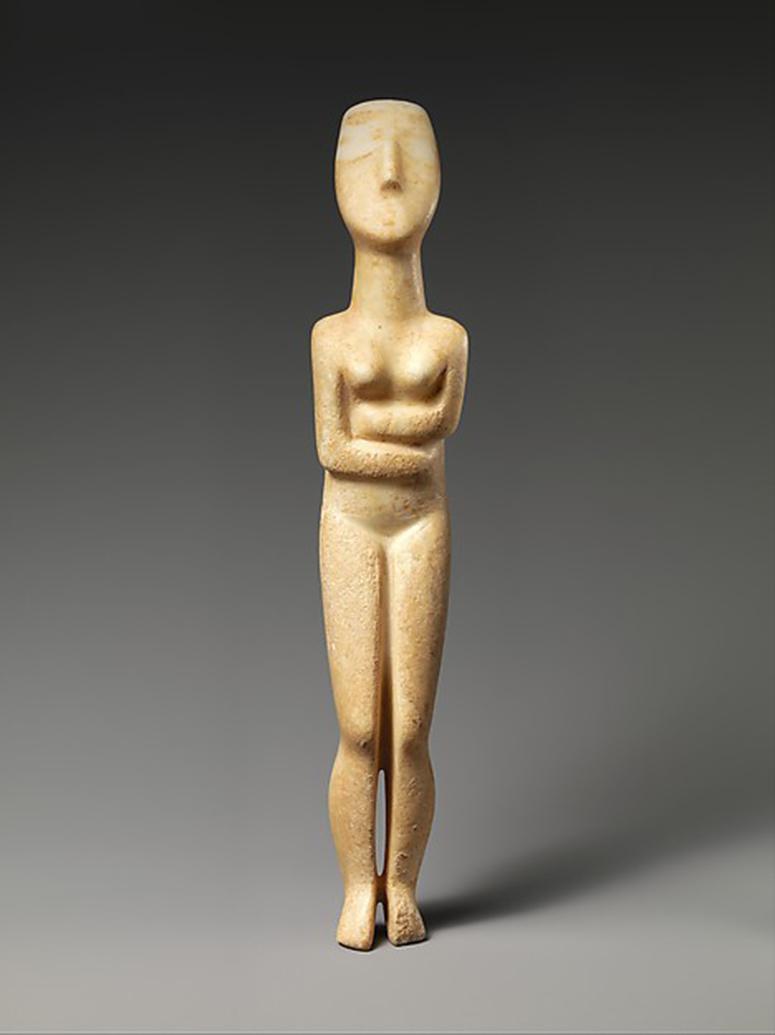 Cycladic sculpture at the Met. (Credit: Metropolitan Museum of Art)
