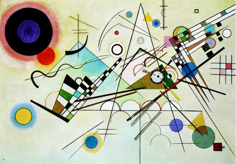 """Composition 8""  1923, Solomon R. Guggenheim Museum."
