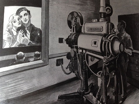 Screening Room, Thomas Hart Benton