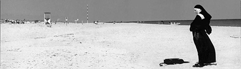 8. nun on beach