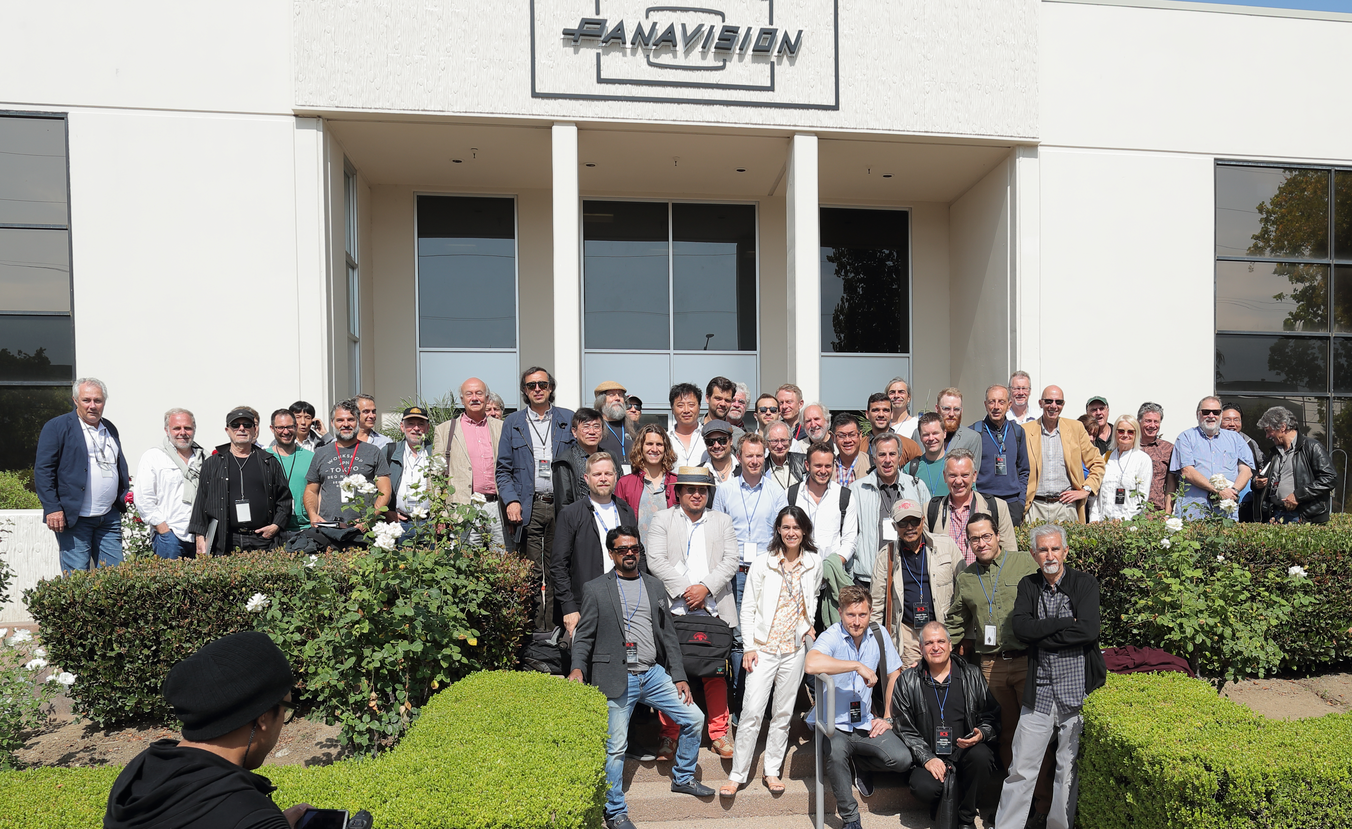 ICS participants arrive at Panavision for a presentation on formats and optics. Photo by James Neihouse, ASC